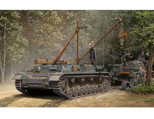Trumpeter 1 35 German Bergepanzer IV Recovery Vehicle Plastic Model Kit 389