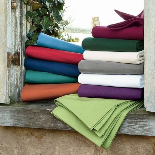 1000 TC Egyptian Cotton Solid Colors Fitted//Flat Sheet//Pillow Case All US Size