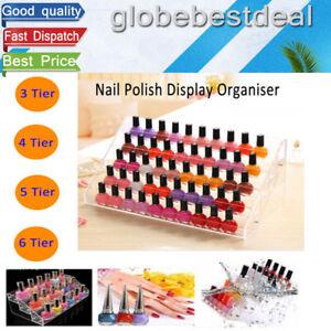 Clear-Acrylic-Nail-Polish-Tiers-Cosmetic-Varnish-Display-Stand-3-4-5-6-Tier-Rack