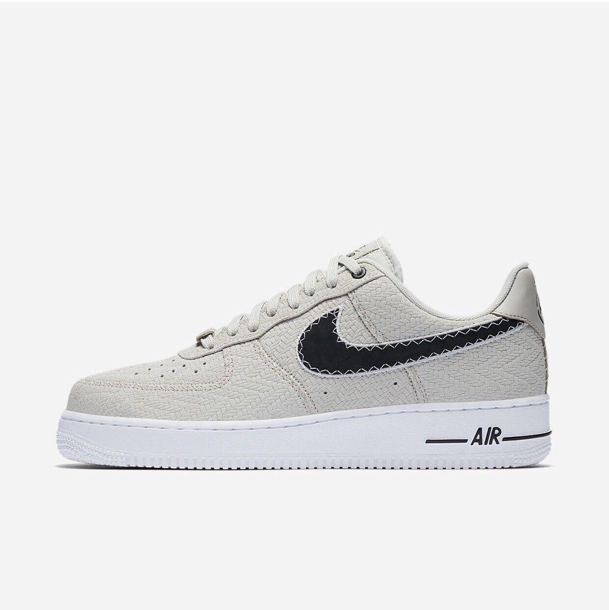 Nike Air Force 1 '07 N7 Light Bone Black White AO2369 001 Size 14 NO BOX TOP