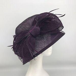 Ladies Headways for Frank Usher Dark Purple Coloured Hat (1075)