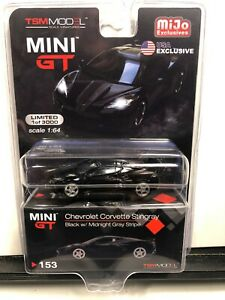 2020 MINI GT 2020 C8 CHEVROLET CORVETTE STINGRAY BLACK TSM MODEL MIJO EXCL #153