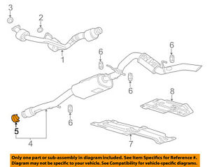 image is loading gm-oem-exhaust-muffler-amp-pipe-clamp-20779889