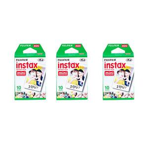 Fujifilm Instax Mini Instant Film 30 Prints for Fuji 90, 9, 8, 7S, 50S 25 Camera 74101279399