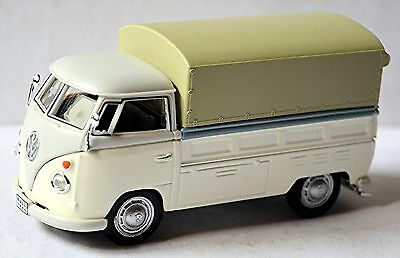 Model Building Honesty Vw Volkswagen T1 Flatbed Truck Pick-up Tarpaulin 1951-67 Gray & White 1:43 Bracing Up The Whole System And Strengthening It Automotive