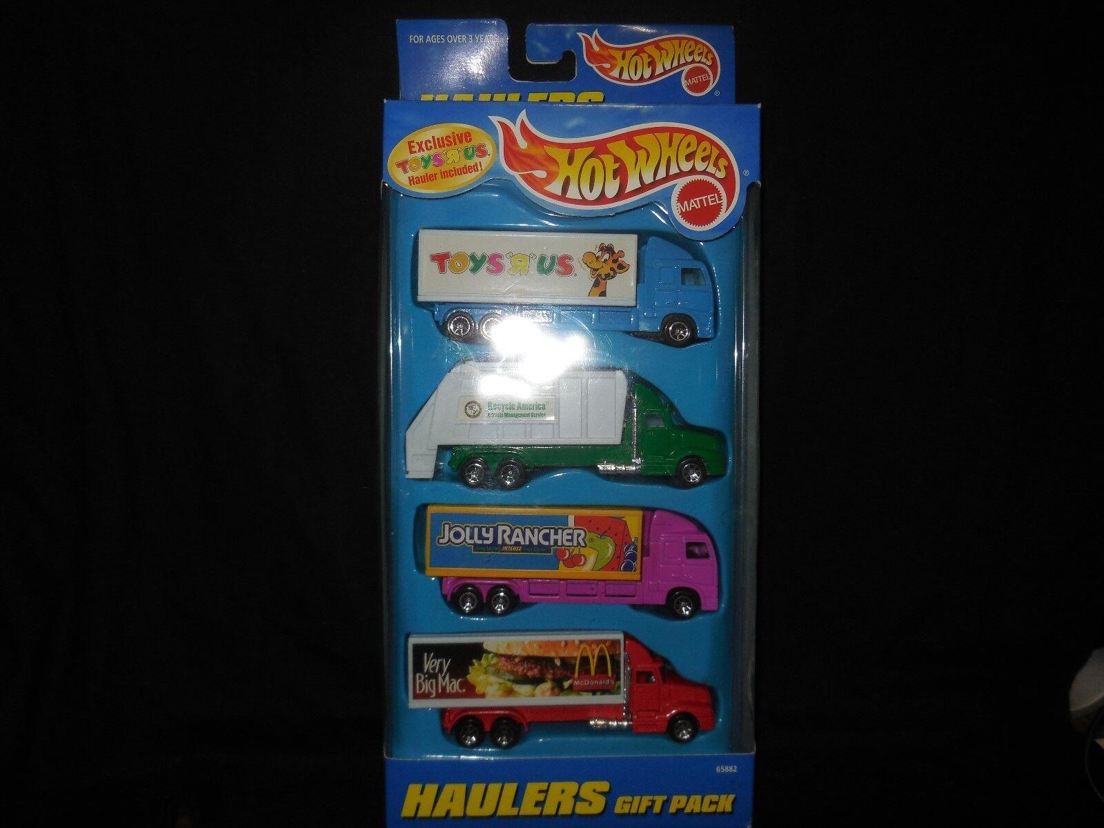 1997 mattel hotwheels 5 pack  truck haulers gift pack mcdonalds- jolly rancher
