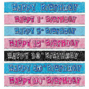 FOIL-BANNER-MILESTONE-Birthday-9ft-Party-BANNERS-Decorations-3-Colours-1-100th