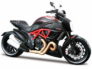 MAISTO-1-18-Ducati-Diavel-Carbon-MOTORCYCLE-BIKE-DIECAST-MODEL-TOY-NEW-IN-BOX