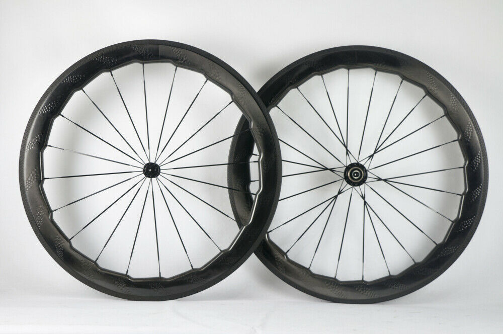 70c 50mm Dimple Carbon Road Cykel Wheels Clinger Full Carbon Fibre Wheelset