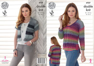 2667034f02e89 Image is loading Knitting-Pattern-Womens-Split-Hem-Sweater-amp-Cropped-