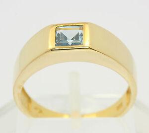 Blau-Topas-Ring-in-aus-8-kt-333-Gelb-Gold-mit-Blautopas-Topasring-Goldring