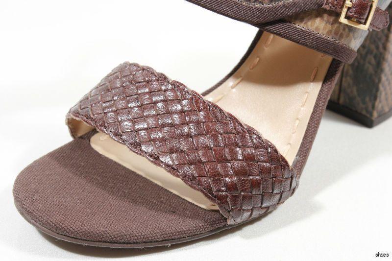 New TAHARI TAHARI TAHARI 'Jada' braun snake-embossed leather open-toe heels schuhe 10 - HOT ee684b