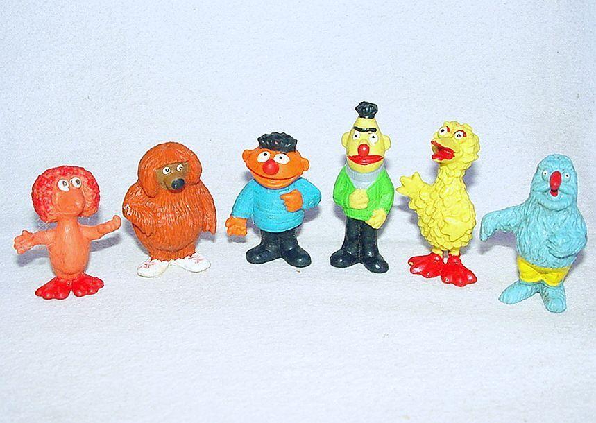 6x Heimo Minikins Jim Henson SESAME STREET Bert Ernie Big Bird + Other FIGURES