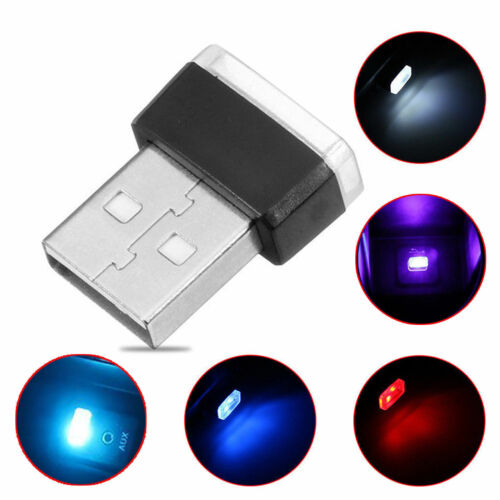 Hot RGB Color USB LED Mini Wireless Car Interior Lighting Atmosphere Light