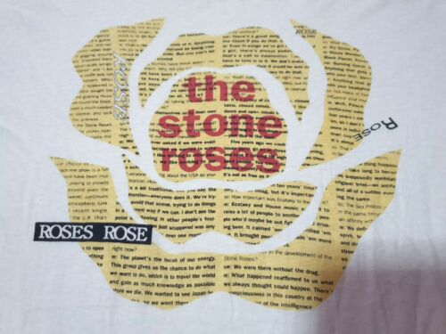 Rare Vintage The stone roses roses rose  T shirt