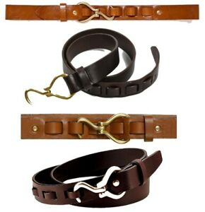 NEW, THE KNOTTERY MEN'S BROWN LEATHER HOOF PICK BELT, 40