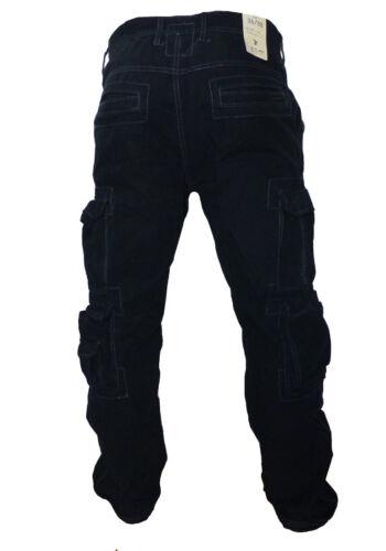 JET Lag Cargo Pant 008 Security Nero Beige Verde Inserto Pantaloni Tasche Laterali