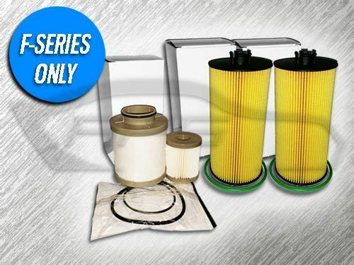 REPLACES FD4604 6.0L TURBO DIESEL 2 OIL FILTERS AND 1 FUEL FILTER COMBO KIT