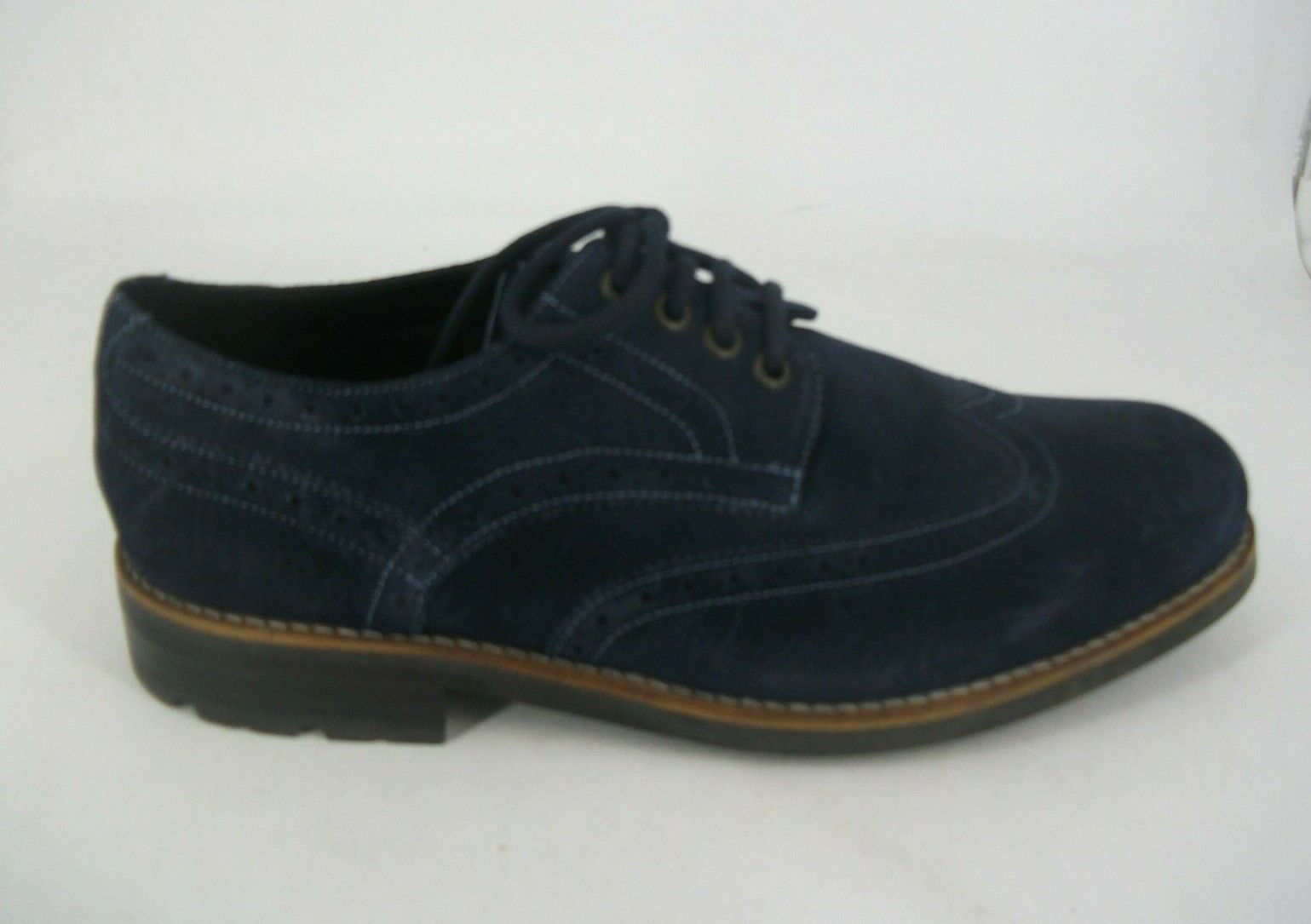 Autograph Navy Suede Lace Up Brogues UK 8 EU 42 JS094 CC 02