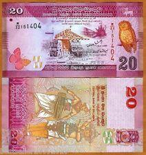 SRI LANKA 20 Rupees  Beautiful UNC Note  # 227