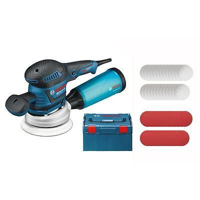 Bosch Exzenterschleifer GEX 125-150 AVE inkl. L-Boxx, 3 Schleifteller + 50 Blatt