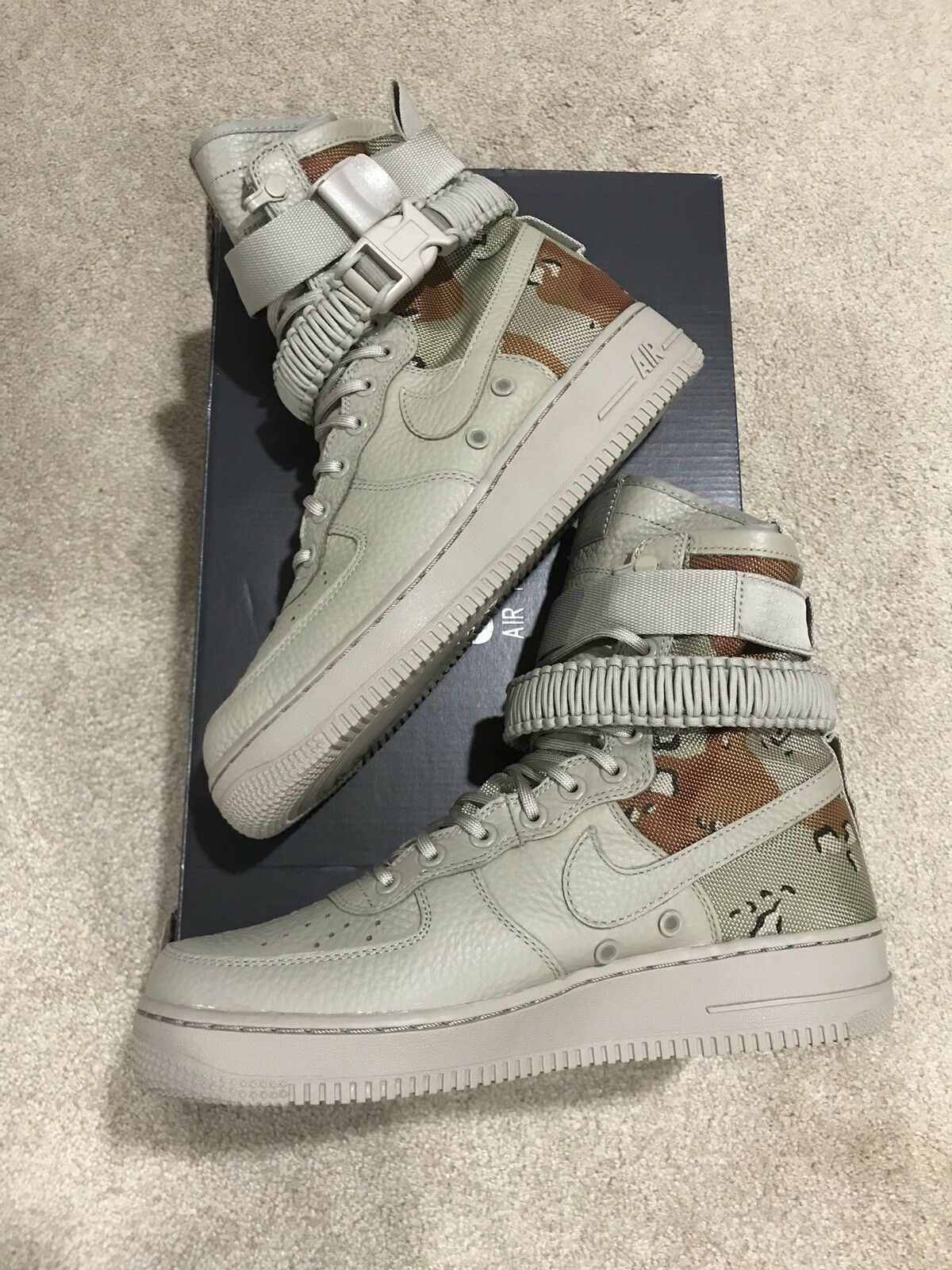 Nike SF AF1 Special Field Air Force 1 One Desert Camo sz 8.5 864024-202 Forces