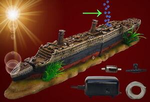 Dekorationen Deko Aquarium Titanic Höhle Boot Fische Dekoration Schiffs-wrack Terrarium Fische & Aquarien