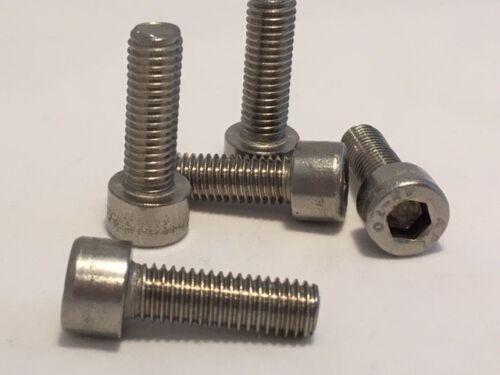Acier inoxydable Socket Allen Capuchon Vis à Tête Boulons DIN A2 912 m³ M4 M5 M6 M8 M10
