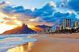 Image Is Loading Rio De Janeiro Ip Beach Sunset 24x36 Poster