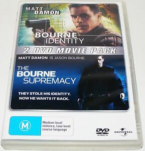 THE-BOURNE-IDENTITY-THE-BOURNE-SUPREMACY-2-Disc-Dvd-Set