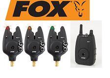 FOX Micron MXr+ 3er Set (rot, gelb, grün) Funkbissanzeiger zum Karpfenangeln