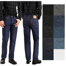 Levis Mens 501 Original Shrink to Fit Denim Button Fly Classic Rise Jeans