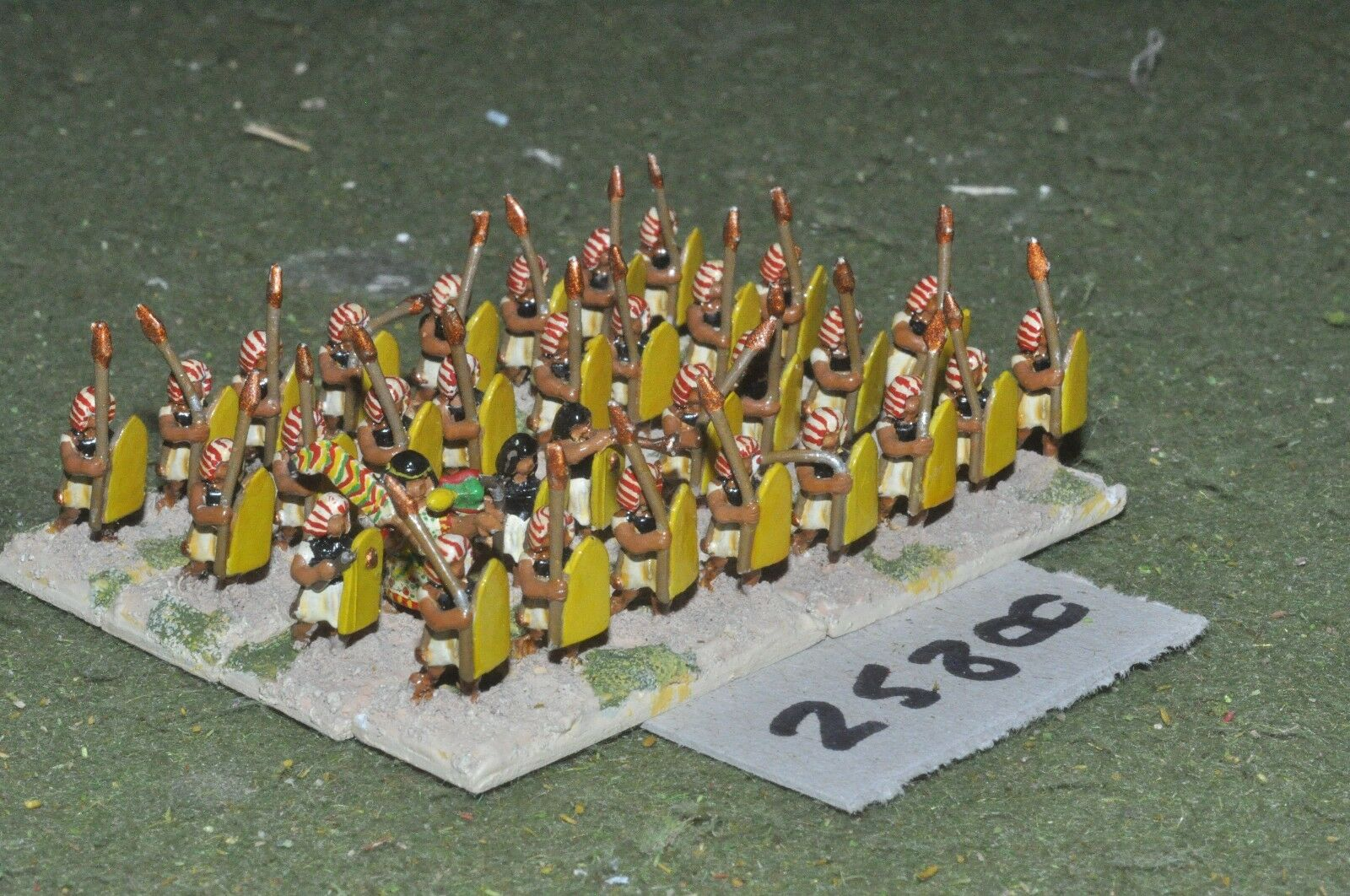 15mm biblical   egyptian - spearmen 32 figures - inf (25800)