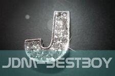 Letter J Chrome Bling Swarovski Crystal Alphabet emblem