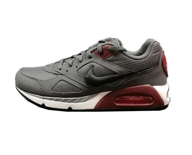 huge inventory ba49f 70a0c NEW Mens Nike Air Max IVO Running Shoes Gray Maroon Black White Sz 6  MSRP 100