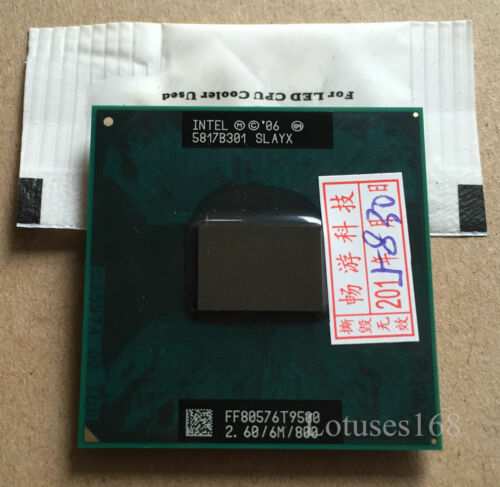 1 von 1 - Intel Core 2 Duo T9500 2,6 GHz 2-Core 6M Prozessor Sockel P SLAYX CPU /965