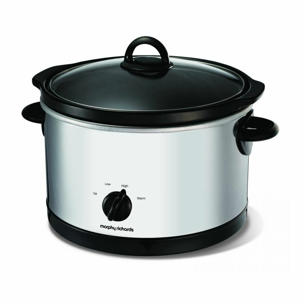 Morphy Richards 6 Litre Electric Round Stainless Steel Slow Cooker Pot 48697
