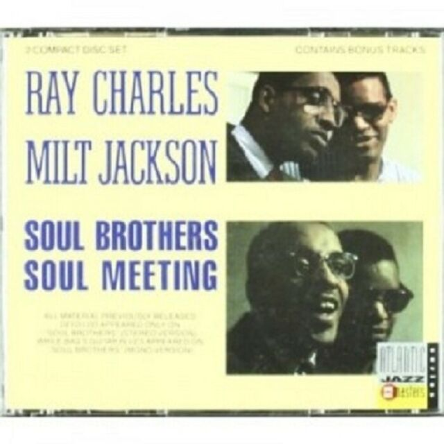 RAY CHARLES & MILT JACKSON - SOUL BROTHERS/SOUL MEETING 2 CD 14 TRACKS JAZZ NEW
