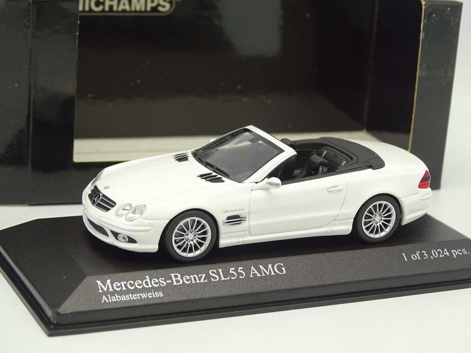 Minichamps 1 43 - Mercedes SL 55 AMG High Performance White