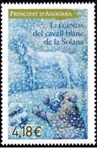 andorra-2019-andorre-Legend-white-horse-of-Solana-snow-cheval-Pferd-caballo-1v