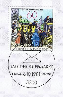 Brd 1981: Tag Der Briefmarke Nr. 1112 Mit Bonner Ersttagssonderstempel! 1a! 154 100% Original