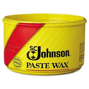 SC JOHNSON Paste Wax 16oz Fine Wood Paste Wax Furniture Floor Metal Leather