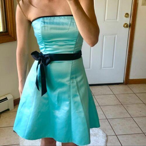 Vtg Jessica McClintock Gunne Sax Blue Formal Dres… - image 1