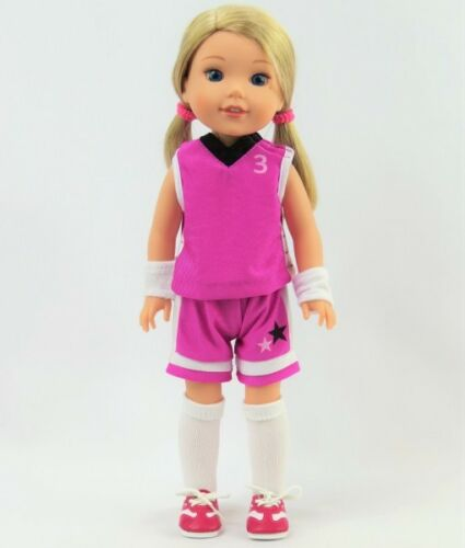 "Doll Clothes 14.5/"" Basketball Shorts Top Shoes Fit 14.5/"" AG WELLIE WISHER DOLLS"