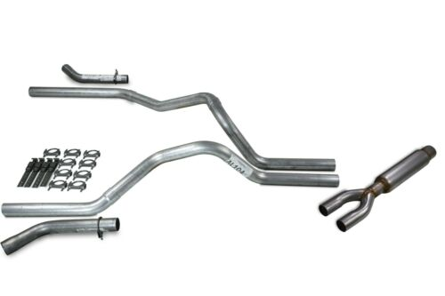 """Chevy GMC 1500 Truck 15-18 2.5/"""" Dual Exhaust Kits with Glasspack Corner Exit"""