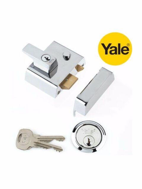 Yale Locks YALP1CHNL P1 Double Security Nightlatch 60mm Backset Chrome Finish Vi