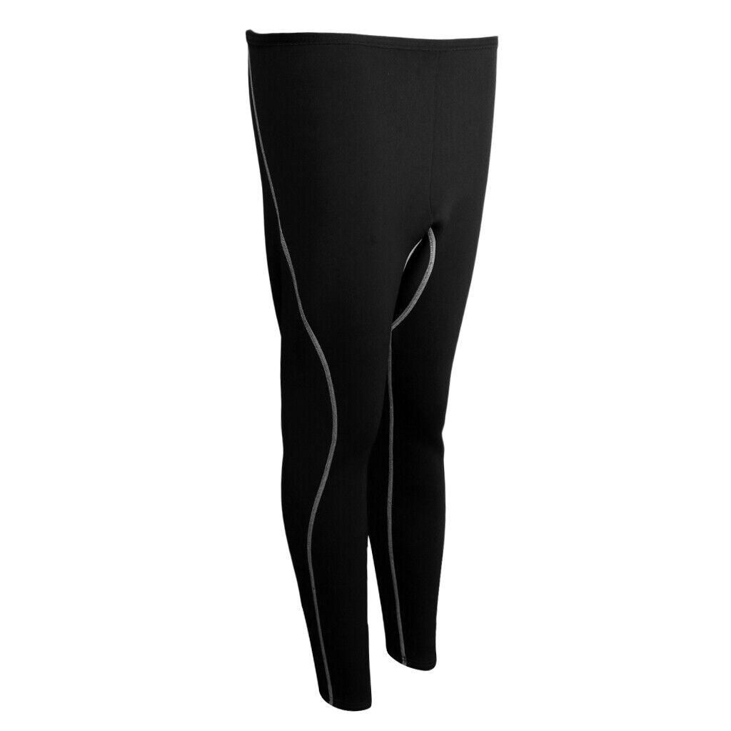 Pantalones para hombres 3 mm Neopreno Traje Buceo Surf Buceo Pantalones Leggings S-XL