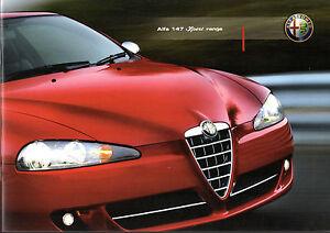 Alfa Romeo 147 Ducati Corse Brochure 2007-2009 1.9 JTDm Q2 UK Market