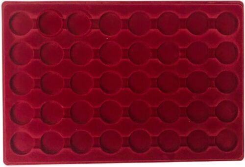 Look 1269-8 Sammel Koffer 6 rote Tableaus runde Fächer für 240 Kronkorken Deckel