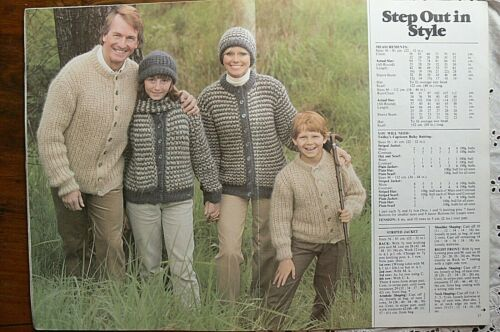 FAMILY KNITS Knitting Large Books Ea 3 Book Choice FamE All Plys